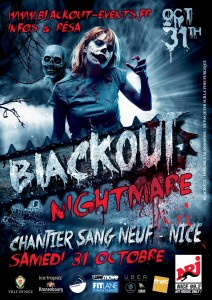 Soirée Halloween au Abattoirs Chantier Sang Neuf à Nice - Black Out Nightmare - Blog Mister Riviera 2015