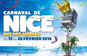 Affiche Carnaval de Nice 2016 - Le Roi des Médias - Programme du Carnaval de la Côte d'Azur, Nice French Riviera - Blog Mister Riviera 2016