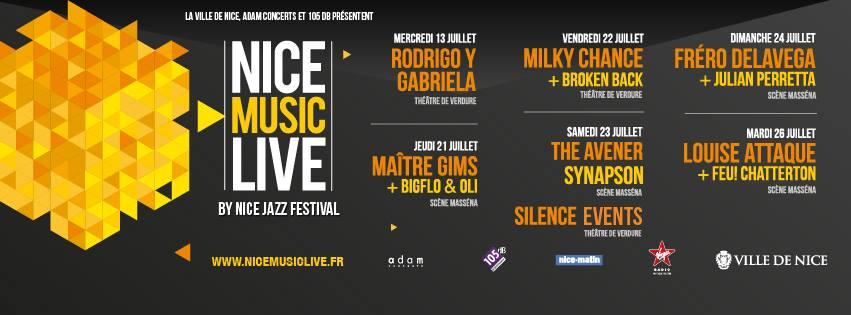 Festival Nice Music Live by Nice Jazz Festival 2016 - Concert Nice Côte d'Azur Louise Attaque, Maître Gims, Fréro Delavega - Photo Thomas Dalmasso - Blog Mister Riviera 2016