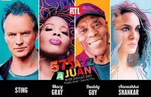 Festival Jazz à Juan 2017 : Sting, Macy Gray, Jamie Cullum et Tom Jones en concert sur la Côte d'Azur - Blog Mister Riviera
