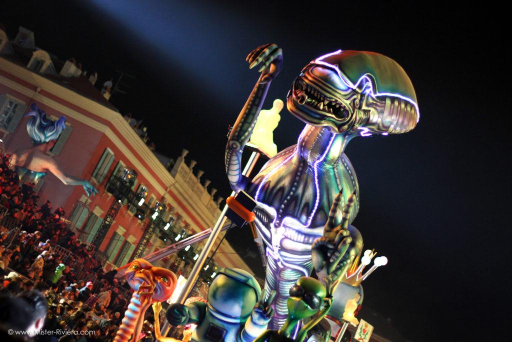 [Album Photo] Carnaval de Nice 2018, le Corso illuminé du Roi de l'Espace - © Mickaël Mugnaini - Blog Mister Riviera 2018
