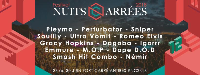 12ème édition des Nuits Carrées à Antibes, le festival alternatif de la Côte d'Azur - Blog Mister Riviera 2018 - Côte d'Azur France
