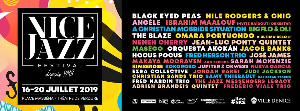 Nice Jazz Festival 2019 : Black Eyed Peas et Neneh Cherry en concert sur la Côte d'Azur - Blog Mister Riviera - Côte d'Azur France 2019