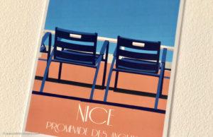 #MisterRiviera4ans : Gagnez votre affiche originale Chaise Bleues d'Eric Garence - Blog Mister Riviera, Côte d'Azur France